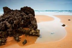 Het Strand van Valdearenas. Spanje stock afbeeldingen