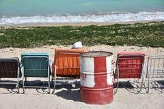 Het strand van Vamaveche, Roemenië stock fotografie