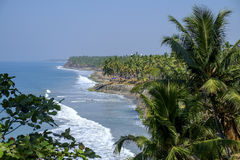 Het strand van Varkala, Kerala, India stock foto