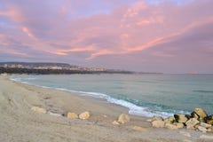 Het strand van Varna stock foto