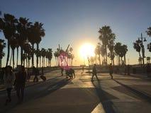 Het strand van Venetië bij schemer Royalty-vrije Stock Foto's