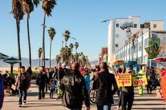 Het Strand van Venetië (Californië) Stock Fotografie