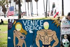 Het STRAND van VENETIË, de V.S. - Oceaanfront walk van het Strand van Venetië royalty-vrije stock afbeeldingen
