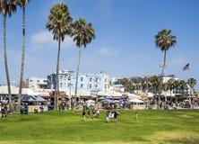 Het Strand van Venetië, de zomerdag - op 12 Augustus 2017 - het Strand van Venetië, Los Angeles, La, Californië, CA Royalty-vrije Stock Foto