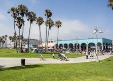 Het Strand van Venetië, de zomerdag - op 12 Augustus 2017 - het Strand van Venetië, Los Angeles, La, Californië, CA Stock Foto