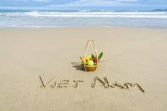 Het strand van Vietnam Stock Afbeeldingen