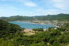 Het strand van Vietnam, de baai van Vinh Hy, de reis van Vietnam Royalty-vrije Stock Foto