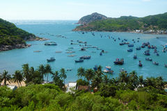 Het strand van Vietnam, de baai van Vinh Hy, de reis van Vietnam Royalty-vrije Stock Afbeeldingen