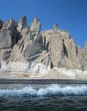 Het strand van Vlichada Stock Foto