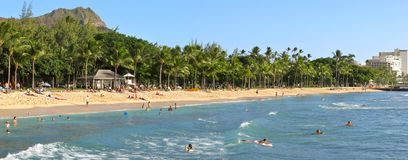Het Strand van Waikiki Stock Foto