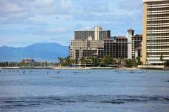 Het Strand van Waikiki Stock Afbeeldingen