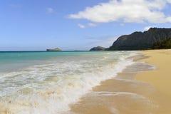 Het strand van Waimanalo royalty-vrije stock foto