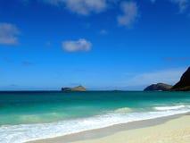 Het Strand van Waimanalo Stock Afbeeldingen