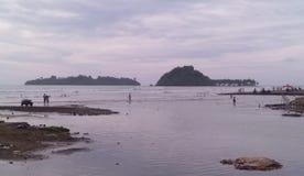 Het Strand van Weergevenpadang stock afbeelding