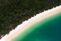 Het strand van Whitehaven Stock Foto's