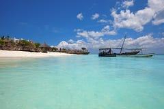 Het strand van Zanzibar royalty-vrije stock foto's