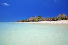 Het strand van Zanzibar stock afbeelding