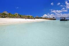 Het strand van Zanzibar stock afbeeldingen