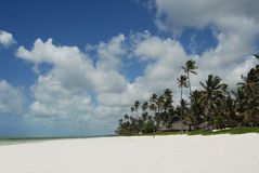 Het strand van Zanzibar stock foto's
