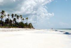 Het strand van Zanzibar tegen dag royalty-vrije stock foto