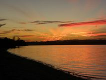 Het Strand van zonsondergangclarks royalty-vrije stock fotografie