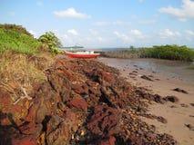 Het strand van zoutmeren Stock Afbeeldingen