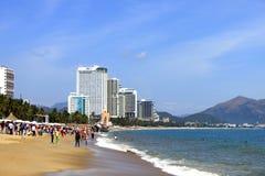 Het strand in Vietnam Stock Afbeelding