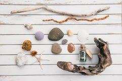 Het strand vindt Stock Foto's