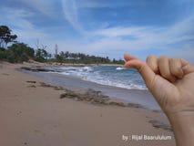 Het strand in het westen lampung Royalty-vrije Stock Fotografie