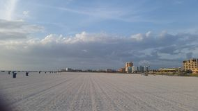 Het strand ziet eruit Stock Afbeelding