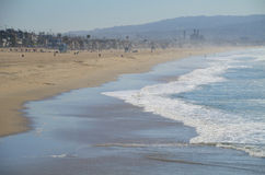 Het strand zij zijaanzicht van Los Angeles Royalty-vrije Stock Foto