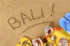 Het strandachtergrond van Bali Stock Afbeelding