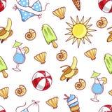 Het strandachtergrond van de zomer Royalty-vrije Stock Afbeeldingen