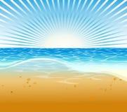 Het strandachtergrond van de zomer Royalty-vrije Stock Foto