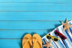 Het strandachtergrond van de zomer Stock Foto's