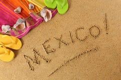 Het strandachtergrond van Mexico Stock Afbeeldingen