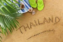 Het strandachtergrond van Thailand Stock Afbeelding