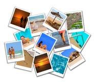 Het strandcollage van de zomer Stock Fotografie