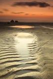 Het strandfoto van Sunet Royalty-vrije Stock Foto
