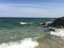 Het Strandgolven van Miami Stock Foto