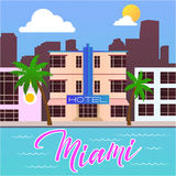 Het strandhotel van Miami stock foto's