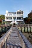 Het strandhuis van de luxe royalty-vrije stock fotografie