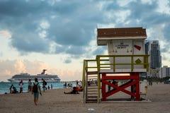 Het Strandhuis van Miami Stock Foto
