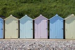 Het Strandhutten van Budleighsalterton Stock Afbeeldingen