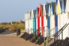 Het strandhutten van Southwold stock afbeelding