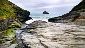 Het strandinham van het Tintageleiland - Cornwall royalty-vrije stock fotografie