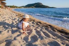 Het Strandkind van de de zomerreis Royalty-vrije Stock Afbeelding
