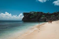 Het strandlandschap van Bali stock fotografie