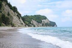 Het strandlandschap van de kiezelsteen Stock Afbeeldingen