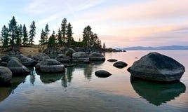 Het Strandmeer Tahoe van de zandhaven stock foto's